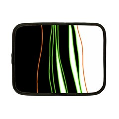 Colorful Lines Harmony Netbook Case (small)  by Valentinaart
