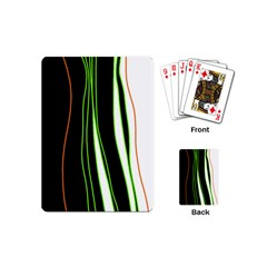 Colorful Lines Harmony Playing Cards (mini)  by Valentinaart