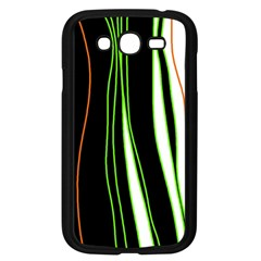 Colorful Lines Harmony Samsung Galaxy Grand Duos I9082 Case (black) by Valentinaart
