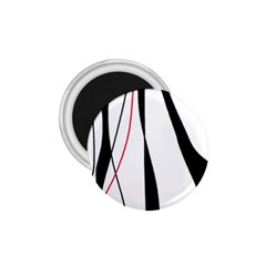 Red, White And Black Elegant Design 1 75  Magnets by Valentinaart
