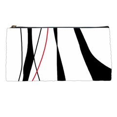 Red, White And Black Elegant Design Pencil Cases by Valentinaart