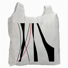 Red, White And Black Elegant Design Recycle Bag (two Side)  by Valentinaart
