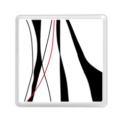 Red, White And Black Elegant Design Memory Card Reader (square)  by Valentinaart