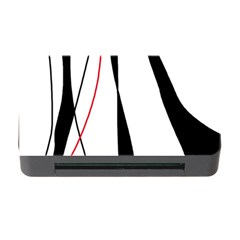 Red, White And Black Elegant Design Memory Card Reader With Cf by Valentinaart