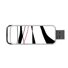 Red, White And Black Elegant Design Portable Usb Flash (one Side) by Valentinaart