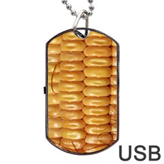 Corn Pattern Agriculture Natural Dog Tag USB Flash (One Side) by Zeze