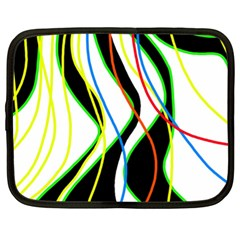 Colorful Lines   Abstract Art Netbook Case (xl)  by Valentinaart