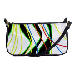 Colorful Lines   Abstract Art Shoulder Clutch Bags by Valentinaart