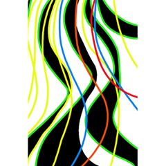 Colorful Lines   Abstract Art 5 5  X 8 5  Notebooks by Valentinaart