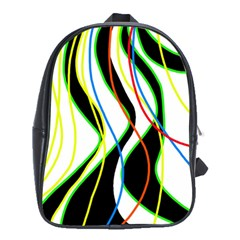 Colorful Lines   Abstract Art School Bags (xl)  by Valentinaart
