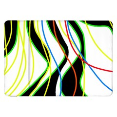 Colorful Lines   Abstract Art Samsung Galaxy Tab 8 9  P7300 Flip Case by Valentinaart