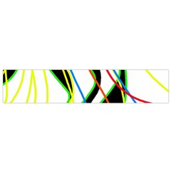 Colorful Lines   Abstract Art Flano Scarf (small) by Valentinaart