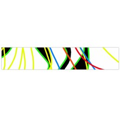Colorful Lines   Abstract Art Flano Scarf (large) by Valentinaart
