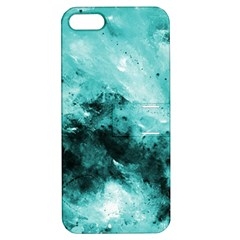 Turquoise Abstract Apple iPhone 5 Hardshell Case with Stand by timelessartoncanvas