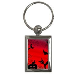 Halloween Landscape Key Chains (rectangle)  by Valentinaart