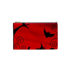 Halloween Landscape Cosmetic Bag (small)  by Valentinaart