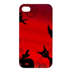 Halloween Landscape Apple Iphone 4/4s Premium Hardshell Case by Valentinaart