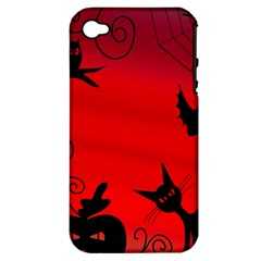 Halloween Landscape Apple Iphone 4/4s Hardshell Case (pc+silicone) by Valentinaart