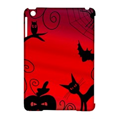 Halloween Landscape Apple Ipad Mini Hardshell Case (compatible With Smart Cover) by Valentinaart