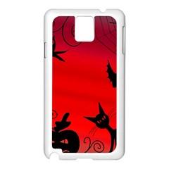Halloween Landscape Samsung Galaxy Note 3 N9005 Case (white) by Valentinaart