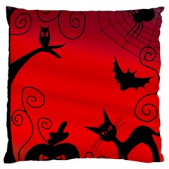 Halloween Landscape Large Flano Cushion Case (two Sides) by Valentinaart