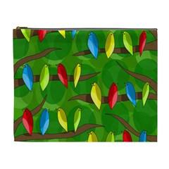 Parrots Flock Cosmetic Bag (xl) by Valentinaart