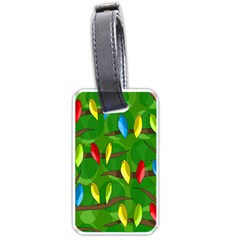 Parrots Flock Luggage Tags (One Side)  by Valentinaart