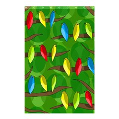 Parrots Flock Shower Curtain 48  X 72  (small)  by Valentinaart
