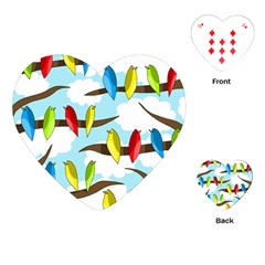Parrots flock Playing Cards (Heart)