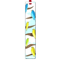 Parrots Flock Large Book Marks by Valentinaart