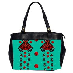 Dancing In Polka Dots Office Handbags (2 Sides)  by pepitasart