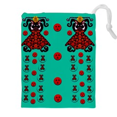 Dancing In Polka Dots Drawstring Pouches (xxl) by pepitasart