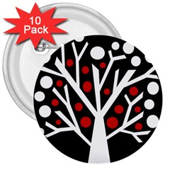 Simply Decorative Tree 3  Buttons (10 Pack)  by Valentinaart