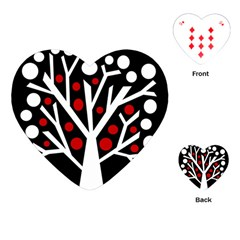 Simply Decorative Tree Playing Cards (heart)  by Valentinaart