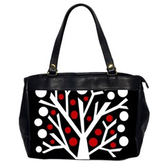 Simply Decorative Tree Office Handbags (2 Sides)  by Valentinaart