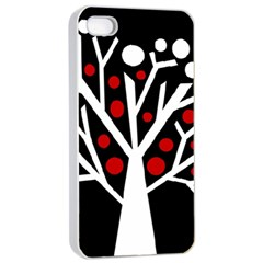 Simply Decorative Tree Apple Iphone 4/4s Seamless Case (white) by Valentinaart