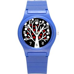 Simply Decorative Tree Round Plastic Sport Watch (s) by Valentinaart