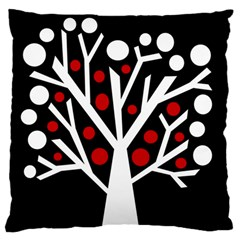Simply Decorative Tree Large Flano Cushion Case (one Side) by Valentinaart