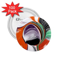 Abstract Orb In Orange, Purple, Green, And Black 2 25  Buttons (100 Pack)  by theunrulyartist