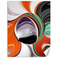 Abstract Orb In Orange, Purple, Green, And Black Canvas 18  X 24