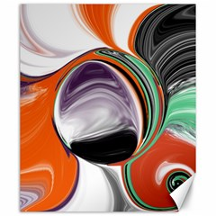 Abstract Orb In Orange, Purple, Green, And Black Canvas 20  X 24   by digitaldivadesigns
