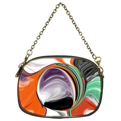 Abstract Orb In Orange, Purple, Green, And Black Chain Purses (one Side)