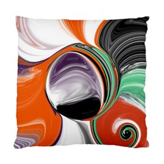 Abstract Orb In Orange, Purple, Green, And Black Standard Cushion Case (two Sides) by digitaldivadesigns