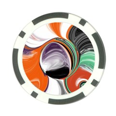 Abstract Orb in Orange, Purple, Green, and Black Poker Chip Card Guards (10 pack)  by theunrulyartist