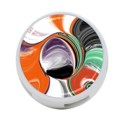 Abstract Orb In Orange, Purple, Green, And Black 4 Port Usb Hub (two Sides)  by digitaldivadesigns