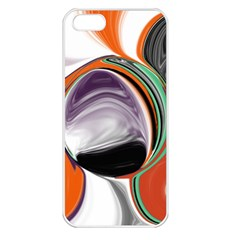 Abstract Orb In Orange, Purple, Green, And Black Apple Iphone 5 Seamless Case (white) by digitaldivadesigns