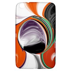 Abstract Orb In Orange, Purple, Green, And Black Samsung Galaxy Tab 3 (8 ) T3100 Hardshell Case  by digitaldivadesigns