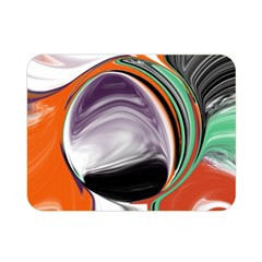 Abstract Orb In Orange, Purple, Green, And Black Double Sided Flano Blanket (mini)  by theunrulyartist