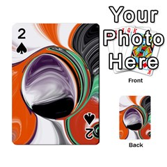 Abstract Orb In Orange, Purple, Green, And Black Playing Cards 54 Designs