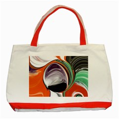Abstract Orb In Orange, Purple, Green, And Black Classic Tote Bag (red) by digitaldivadesigns